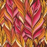 Textura con las plumas anaranjadas Fotos de archivo libres de regalías