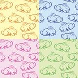 Textura con los conejos Stock de ilustración
