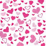 Textura con los corazones Fotografía de archivo libre de regalías