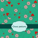 Textura con los corazones Foto de archivo libre de regalías