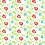 Textura con los elementos florales Foto de archivo