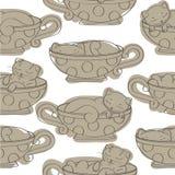 Textura con los gatitos Libre Illustration