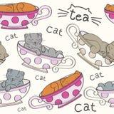 Textura con los gatitos Ilustración del Vector