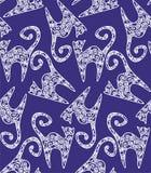 Textura con los gatos Imagen de archivo libre de regalías