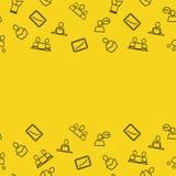 Textura con los iconos para la gestión Imagen de archivo