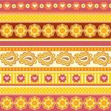 Textura con los ornamentos étnicos stock de ilustración