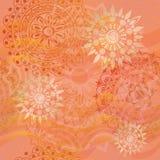 Textura con los ornamentos en colores calientes Fotografía de archivo libre de regalías