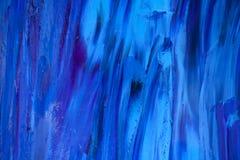 Textura concreta com luz fria - a textura azul do fundo pintou o fundo fotografia de stock