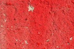 Textura concreta vermelha Fotografia de Stock