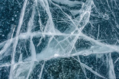 Textura congelada del hielo del lago foto de archivo libre de regalías