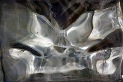 Textura congelada vítreo do gelo imagens de stock