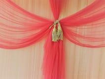 Textura cor-de-rosa da cortina Imagem de Stock Royalty Free