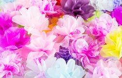 Textura cor-de-rosa das flores de papel Fotografia de Stock