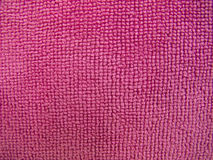 Textura cor-de-rosa de toalha, fundo de pano Imagens de Stock Royalty Free