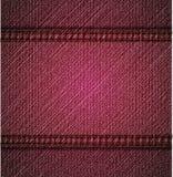 Textura cor-de-rosa detalhada das calças de brim. Vetor ilustração royalty free