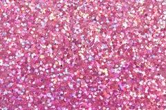 Textura cor-de-rosa do brilho foto de stock