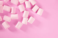 Textura cor-de-rosa do teste padrão dos doces do marshmallow dos doces Fotos de Stock