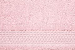 Textura cor-de-rosa macia, macia de toalha Hotel, termas, bathroo confortável imagens de stock royalty free