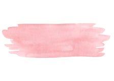 Textura cor-de-rosa pintado à mão da aquarela isolada ilustração stock
