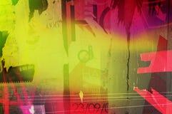 Textura cor-de-rosa/verde Funky Fotografia de Stock