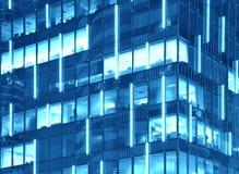 Textura corporativa del edificio (Duotone en azul) foto de archivo libre de regalías