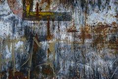 Textura corroída de la pared del hierro Imagenes de archivo