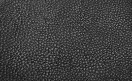Textura - couro preto Foto de Stock