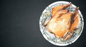 Textura cozida da galinha ilustração do vetor