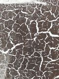 Textura of cracked paint. Brown and white royalty free stock photo
