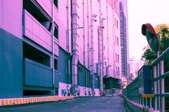 Textura creativa y modelo del color en colores pastel de la ciudad del edificio del vintage fotografía de archivo libre de regalías