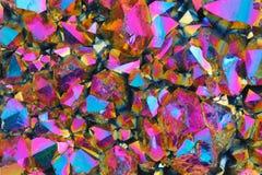 Textura cristalina colorida imágenes de archivo libres de regalías