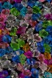 Textura cristalina de piedra cristalina de acrílico colorida Foto de archivo