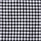 Textura a cuadros blanco y negro del mantel Imagenes de archivo