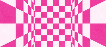 Textura a cuadros rosada abstracta Imagen de archivo