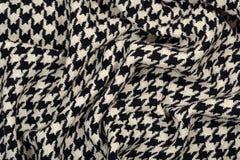 Textura cubierta de la tela de las lanas del pie del ganso del tweed imagenes de archivo