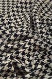 Textura cubierta de la tela de las lanas del pie del ganso del tweed imagen de archivo