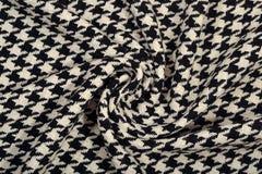 Textura cubierta de la tela de las lanas del pie del ganso del tweed fotografía de archivo libre de regalías