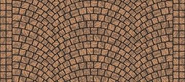 Textura curvada estrada 010 da pedra Fotografia de Stock