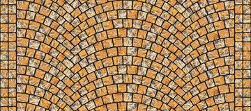 Textura curvada estrada 014 da pedra Imagens de Stock