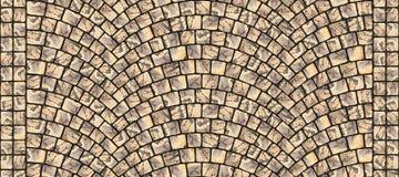 Textura curvada estrada 016 da pedra Foto de Stock Royalty Free