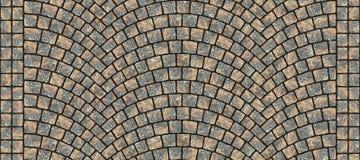 Textura curvada estrada 015 da pedra Fotos de Stock