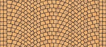 Textura curvada estrada 017 da pedra Foto de Stock
