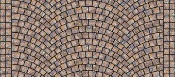 Textura curvada estrada 043 da pedra Imagem de Stock