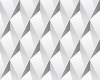 Textura 3d sem emenda abstrata branca (vetor) Imagens de Stock