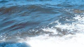 Textura da água do mar e das ondas azuis filme