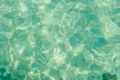 Textura da água do mar, fundo abstrato da aquarela imagem de stock