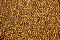 Textura da água do ouro Fotos de Stock Royalty Free