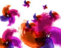 Textura da aguarela de Grunge da cor ilustração royalty free