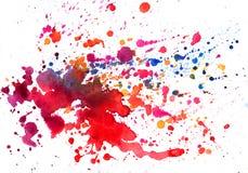 Textura da aquarela das manchas foto de stock