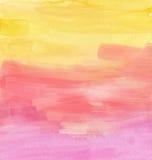 Textura da aquarela do por do sol ilustração royalty free